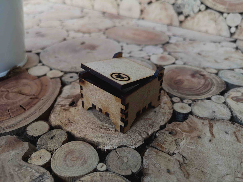 The One Sider - Titanium Wooden Rings - Touchwood