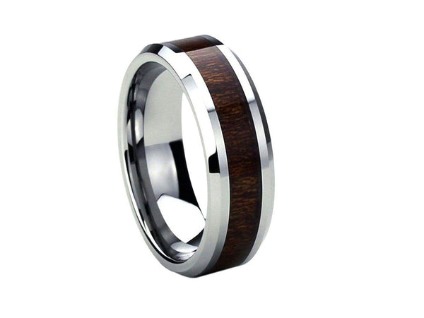 Little Black - Titanium Wooden Rings - Touchwood