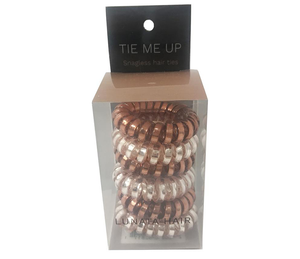 LUNATA™ Tie Me Up Snagless Hair Ties - Pack of 6 - Rose Gold