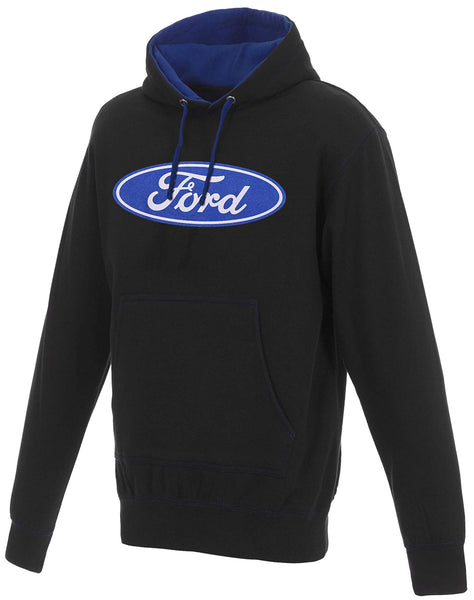 Men's Ford Logo Pullover Hoodie Blue Hood Lining & Body Stitching