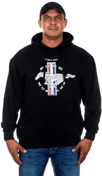 Men's Ford Mustang Pony Logo 3 Bar Logo Hoodie-Hoodie-JH Design-Small-AFC