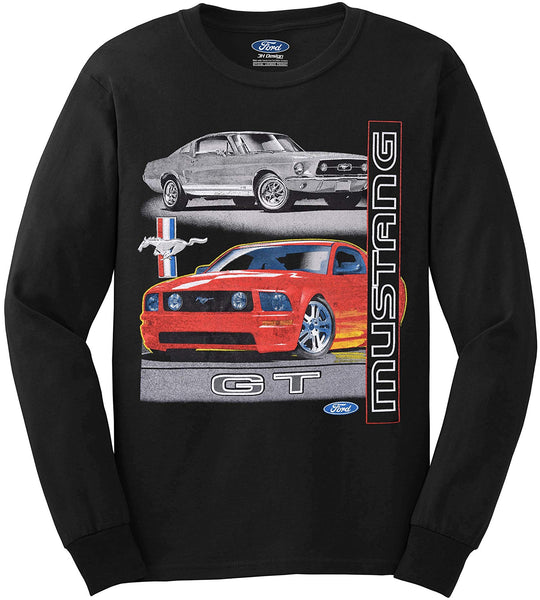 Men's Ford Mustang GT T-Shirt a Long Sleeve T-Shirt-T-Shirt-JH Design-Medium-AFC