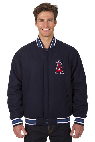 Los Angeles Angels of Anaheim MLB Wool Reversible Jacket Featuring a Front Chest Logo Only