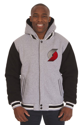 Portland Trail Blazers NBA Mens Reversible Fleece HoodieJacket