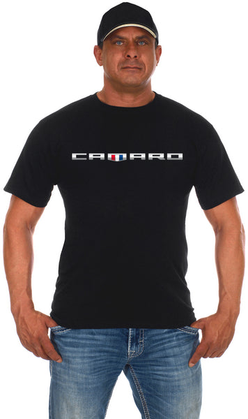 Men's Chevy Camaro Black T-Shirt Shield Emblem