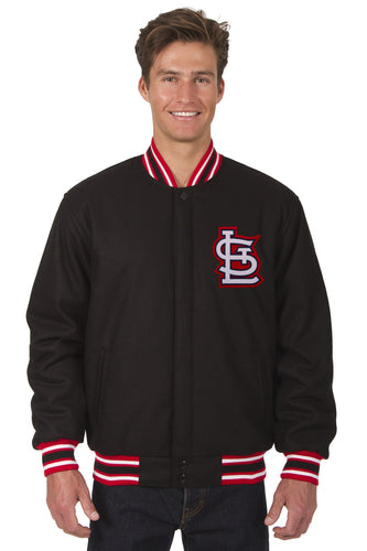 St. Louis Cardinals Wool Reversible Jacket Featuring Front & Back Logos