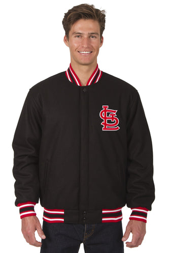 St. Louis Cardinals MLB Wool Reversible Jacket Featuring a Front Chest Logo Only