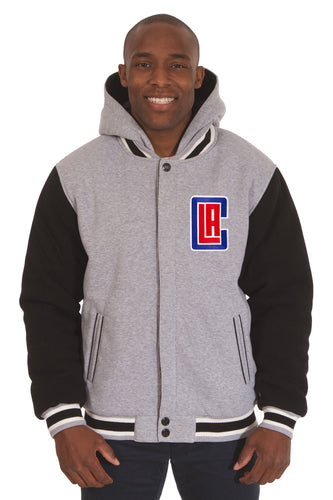 LA Clippers NBA Mens Reversible Fleece Hoodie Jacket