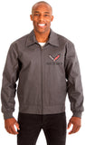 Chevy Corvette Men's Mechanics Jacket Front Chest Emblem-Mechanics Jacket-JH Design-Medium-Charcoal-AFC