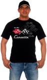 Chevy Corvette Collage Logo T-Shirts-T-Shirt-JH Design-Small-Black-AFC