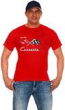 Chevy Corvette Collage Logo T-Shirts-T-Shirt-JH Design-Small-Red-AFC