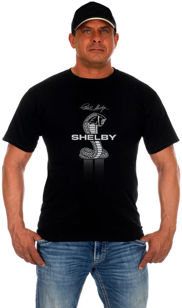 Mens Shelby Cobra Collage T-Shirt-T-Shirt-JH Design-Small-Black-AFC