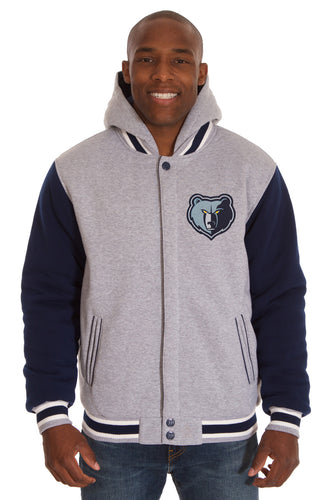 Memphis Grizzlies NBA Mens Reversible Fleece Hoodie Jacket