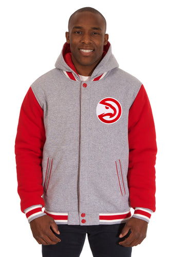 Atlanta Hawks NBA Mens Reversible Fleece Hoodie Jacket