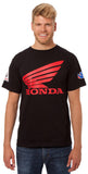 Honda Logo Factory Racing Team Black Crewneck T-Shirt