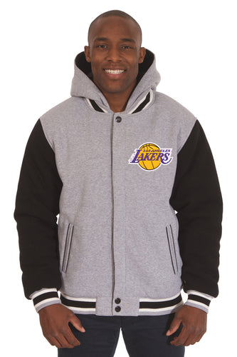 Los Angeles Lakers NBA Mens Reversible Fleece Hoodie Jacket