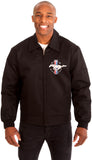Ford Mustang Men's Mechanics Jacket with Front Chest Emblem-Mechanics Jacket-JH Design-Medium-Black-AFC