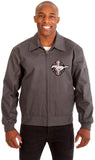 Ford Mustang Men's Mechanics Jacket with Front Chest Emblem-Mechanics Jacket-JH Design-Medium-Charcoal-AFC
