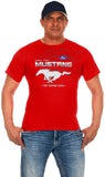 Ford Mustang Collage Logo T-Shirts-T-Shirt-JH Design-Small-Red-AFC