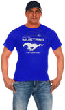 Ford Mustang Collage Logo T-Shirts-T-Shirt-JH Design-Small-Royal-AFC