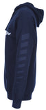 Men's Ford Mustang Pullover Navy Blue Hoodie Sport Striped Sleeves