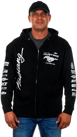 Ford Mustang Collage Logos Hoodie-Hoodie-JH Design-Small-Black-AFC