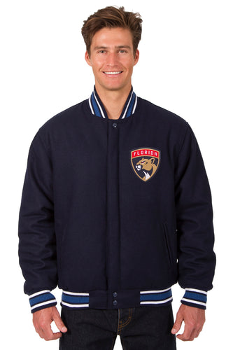 Florida Panthers NHL Wool Reversible Jacket Featuring a Front Chest Logo Only