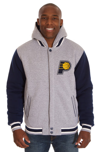 Indiana Pacers NBA Mens Reversible Fleece Hoodie Jacket