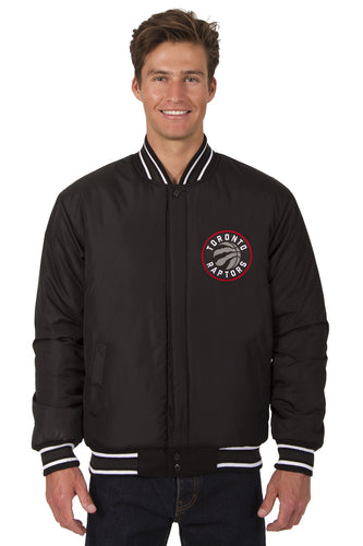 Toronto Raptors Wool Reversible Jacket Featuring Front & Back Logos