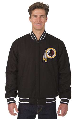 Washington Redskins NFL Wool Reversible Jacket Featuring a Front Chest Logo Only