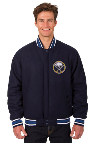 Buffalo Sabres NHL Wool Reversible Jacket Featuring a Front Chest Logo Only