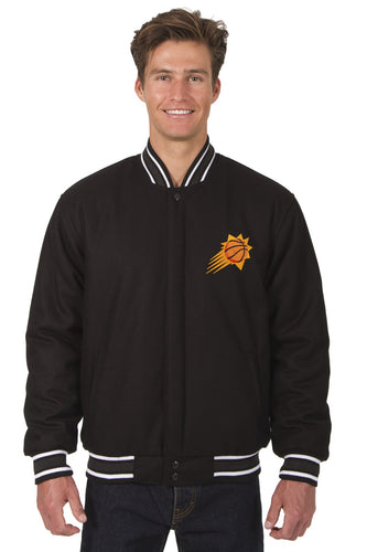 Phoenix Suns Wool Reversible Jacket Featuring a Front Chest Logo Only