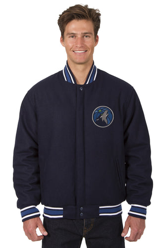 Minnesota Timberwolves Wool Reversible Jacket Featuring a Front Chest Logo Only