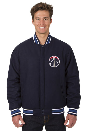 Washington Wizards Wool Reversible Jacket Featuring a Front Chest Logo Only