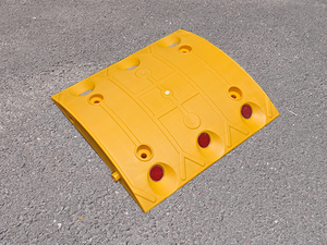 "Individual Yellow Speed Bump Center Pieces L13.75"" x W9.8"" x H1.9"""