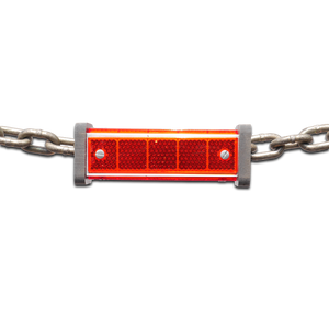 Red chain reflector