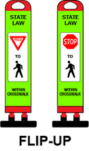Load image into Gallery viewer, Portable * Flip-Up * Compact Safety Sign