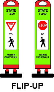 Portable * Flip-Up * Compact Safety Sign