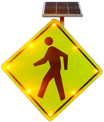 EDGE LIGHT PEDESTRIAN CROSSING SIGNS
