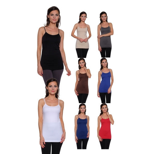 8 pack: Women's Seamless Basic Camis