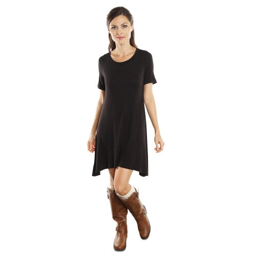 Short Sleeve Flowy T-shirt Dress