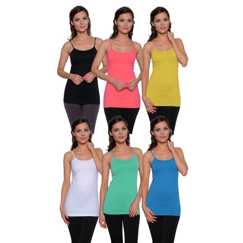 6 pack: Women's Seamless Basic Camis