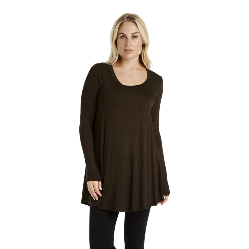 Women's Loose Flare Fit Extra Long or Short Sleeve Tunic
