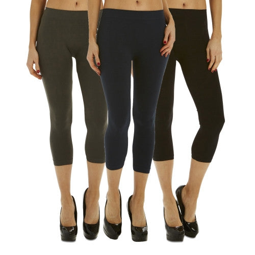 3 Pack: Women's Footless Short Tights