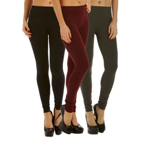 3 Pack: Women's Footless Tights