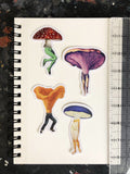 4-pack of mushroom stickers