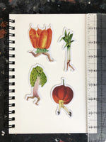 4-pack of veggie stickers