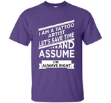 Funny Tattoo Artist T-shirt Fathers Day Birthday Art Gift