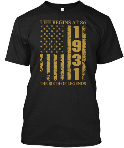 Life Begins At 86 1931 The Birth Of Legends Birthday Gift