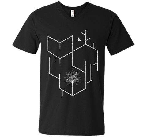 Adorable Geometric Lines Tree And Flying Eagle 2017 T Shirt